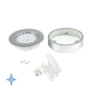 Spot LED Crux-in Emuca lumière blanc froid avec support finition gris métallisé