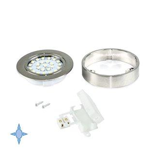 Spot LED Crux-in Emuca lumière blanc froid avec support en nickel satiné