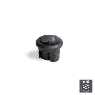 Lot de 10 interrupteurs Emuca à encastrer en plastique noir