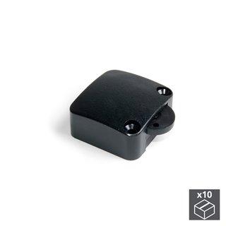 Lot de 10 interrupteurs Emuca pour porte en plastique noir