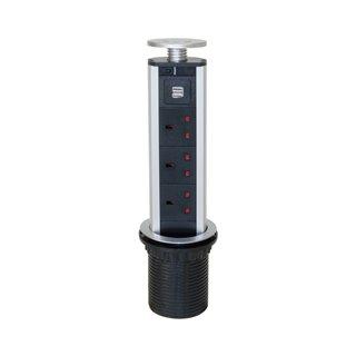 Multiconnecteur Vertikal Emuca à encastrer pour marché UK avec prises type G