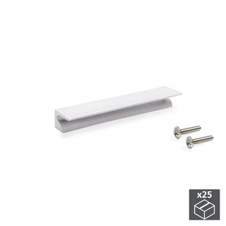 Lot de 25 poignées pour meuble Glasgow Emuca en aluminium anodisé mat avec entraxe 64 mm