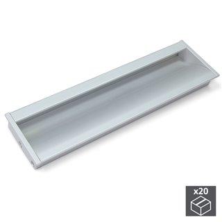 Lot de 20 poignées pour meuble Bologna Emuca en aluminium anodisé mat avec entraxe 160 mm
