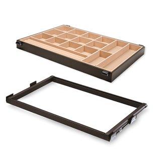 Kit de coulisses et tiroir organisateur Moka Emuca pour module 900 mm finition couleur moka