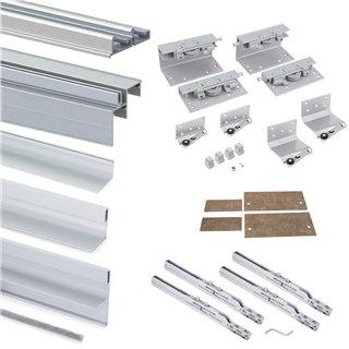 Armoire Space+ Emuca 2 portes avec profils Free rapid et fermeture amortie