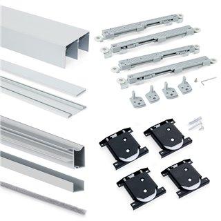Armoire Placard Emuca 2 portes avec profils Wave16 et fermeture amortie