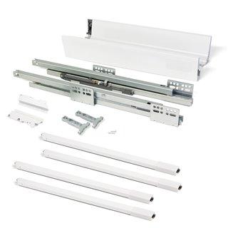 Kit de tiroir Vantage-Q Emuca hauteur 204 mm et profondeur 500 mm avec tringles finition blanc