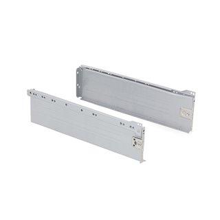 Kit de tiroir Ultrabox Emuca hauteur 150 mm et profondeur 270 mm finition gris métallisé