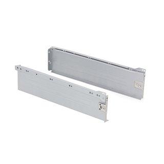 Kit de tiroir Ultrabox Emuca hauteur 150 mm et profondeur 400 mm finition gris métallisé