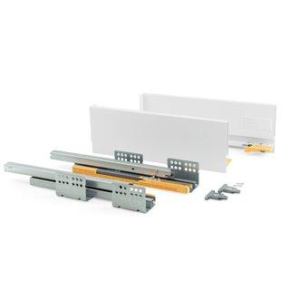 Kit de tiroir Concept Emuca hauteur 138 mm et profondeur 500 mm finition blanc