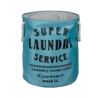 Panier à Linge Sale Super Laundry Service Wagon Trend-Couleur-Turquoise