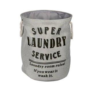Panier à Linge Sale Super Laundry Service Wagon Trend-Couleur-Gris