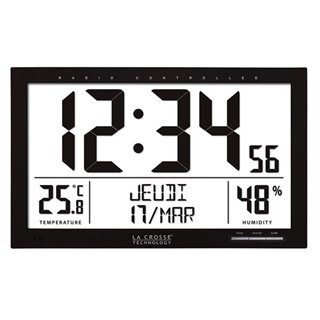 La Crosse - Dcf Clock With Calendar, Temperature, Humidity And Alarm