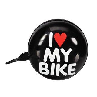 Sonnette De Vélo - 'I Love My Bike' - Ø 8 Cm - Noir