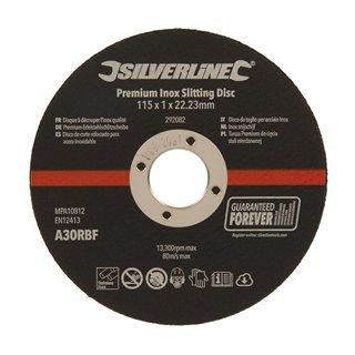 Lot de 10 disques à découper l'inox qualité - 115 x 1 x 22,23 mm