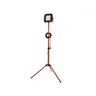 Projecteur De Chantier Portable Led Sur Trépied - 50 W - 4000 K - Câble De 5 M + Fiche Eu