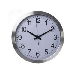 Horloge Murale En Aluminium - Ø40Cm