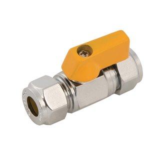Valve à bille droite - 8 mm