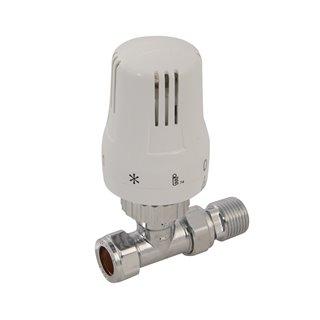 Valve thermostatique droite - 15 mm