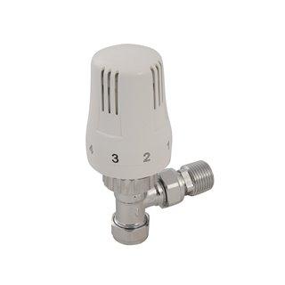 Valve thermostatique à angle - 15 mm