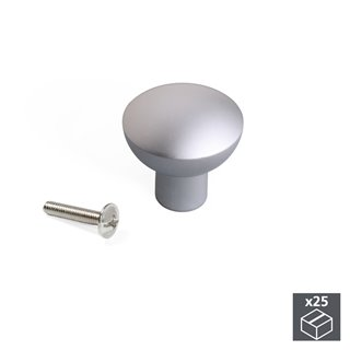 Lot de 25 poignées Verona Emuca pour meubles en aluminium finition anodisé mat