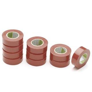 Nitto - Ruban Adhesif Isolant - Rouge - 19 Mm X 10 M