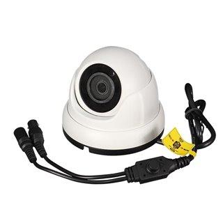 Caméra Multi Protocoles - Hd-Tvi / Cvi / Ahd / Analogique - Extérieur - Dôme - 1080P - Blanc
