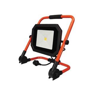 Projecteur De Chantier Portable À Led - Pliant - 50 W - 4000 K - Câble De 1.5 M + Fiche Eu