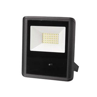 Projecteur Led D'Extérieur - 30 W, Blanc Neutre - Noir - Capteur À Micro-Ondes