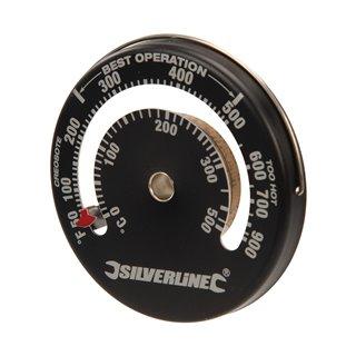 Thermomètre à poêle magnétique - 0 - 500°C / 32 - 932°F