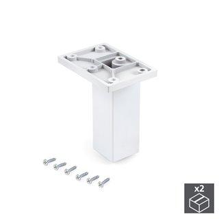 Emuca pied pour meubles, central, réglable 100 - 110 mm, Plastique, Blanc, 2 u.
