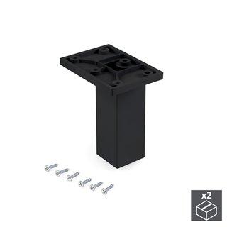Emuca pied pour meubles, central, réglable 100 - 110 mm, Plastique, Noir, 2 u.