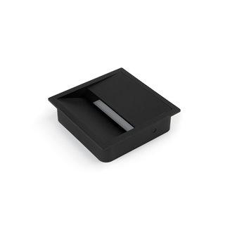 Emuca Passe-câbles table, carré, 85 x 85 mm, pour encastrer, Plastique, Noir