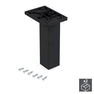 Emuca pied pour meubles, central, réglable 140 - 150 mm, Plastique, Noir, 2 u.