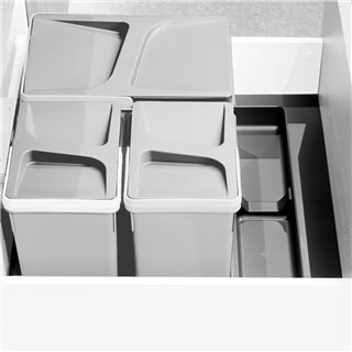 Emuca Base pour poubelles pour tiroir de cuisine, module 600mm, Gris antracite
