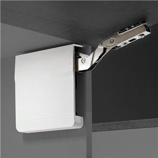 Emuca compas pour portes relevables, Force 3200-9000, Acier et Plastique, Blanc
