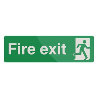 Pancarte « Fire Exit » - Photoluminescente, 400 x 125 mm