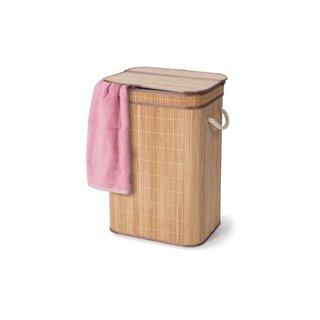 Panier À Linge Avec Couvercle - Bambou - Rectangulaire - Naturel