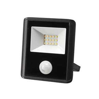 Projecteur Led D'Extérieur - 10 W, Blanc Neutre - Noir - Capteur Pir