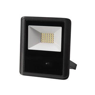 Projecteur Led D'Extérieur - 20 W, Blanc Neutre - Noir - Capteur À Micro-Ondes