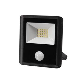 Projecteur Led D'Extérieur - 20 W, Blanc Neutre - Noir - Capteur Pir