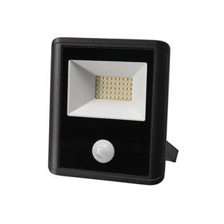 Projecteur Led D'Extérieur - 30 W, Blanc Neutre - Noir - Capteur Pir