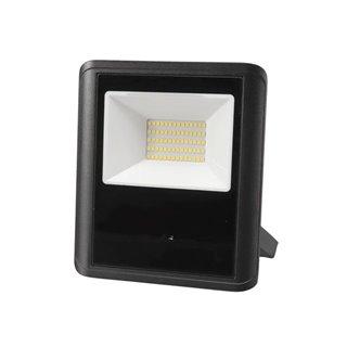 Projecteur Led D'Extérieur - 50 W, Blanc Neutre - Noir - Capteur À Micro-Ondes