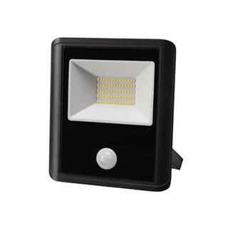 Projecteur Led D'Extérieur - 50 W, Blanc Neutre - Noir - Capteur Pir