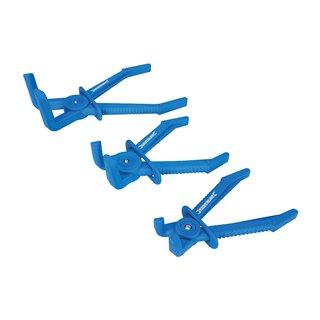 Pinces à clamper coudées pour tuyaux flexibles, 3 pcs - 3 pcs