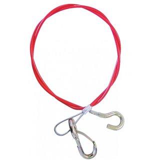 Cable de securite avec mousqueton et crochet
