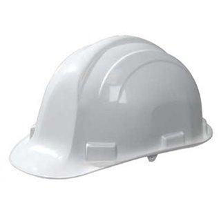 Casque de chantier en polyéthylène blanc - Outifrance