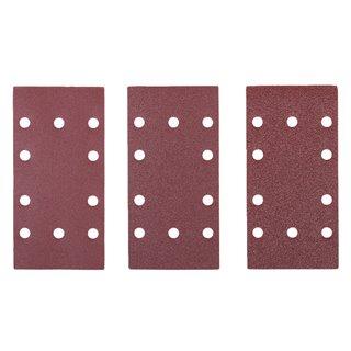Assortiment 10 Abrasifs 1/3 Feuille auto-agrippants 188 X 95 MM Pour ponceuses vibrantes - Ryobi TSA10