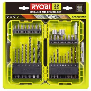 CoffretT 32 accessoires PERÇAGE/VISSAGE/BOULONNAGE - Ryobi RAK32DDMIX