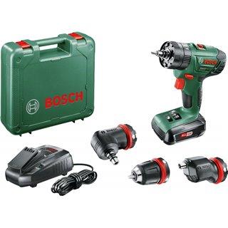 Coffret AdvancedImpact 18 QuickSnap Bosch - Livré avec: 1 batterie, 1 chargeur, 1 renvoi d'angle, 1 mandrin excentré